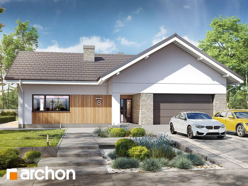 gotowy projekt Dom w przebiśniegach 9 (G2) widok 1