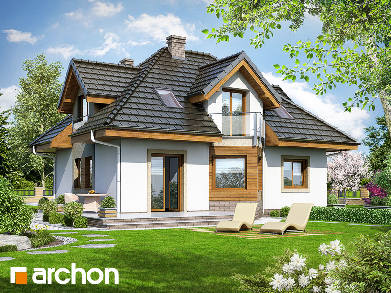 gotowy projekt Dom w niezapominajkach (N) widok 1