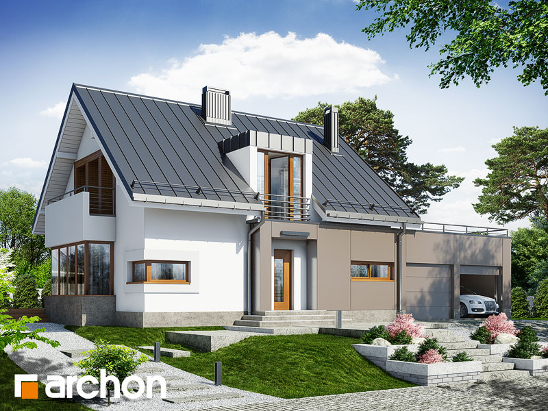 gotowy projekt Dom w kardamonie (G2) widok 1