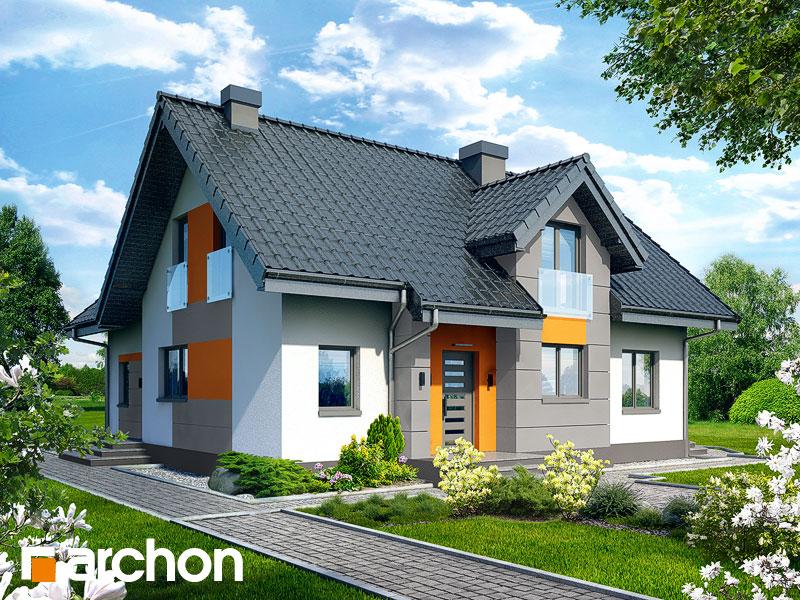 projekt Dom w mniszkach 2 widok 1