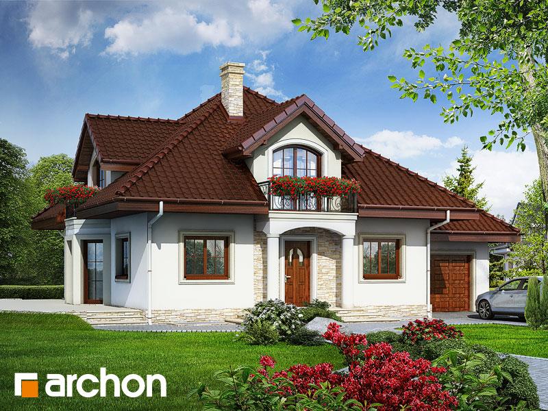 gotowy projekt Dom w jaśminowcach (P) widok 1