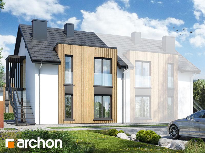 gotowy projekt Dom w dawidiach (R2B) widok 1