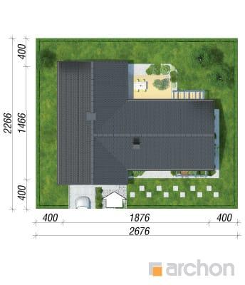 projekt Dom w bonsai sytuacja