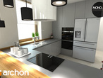 projekt Dom w mango 2 Wizualizacja kuchni 1 widok 1