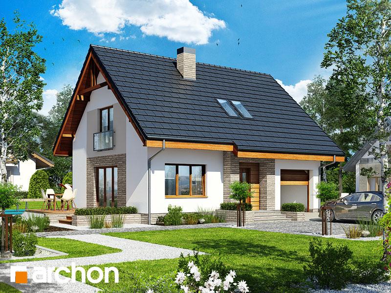 projekt Dom w lucernie 4 widok 1