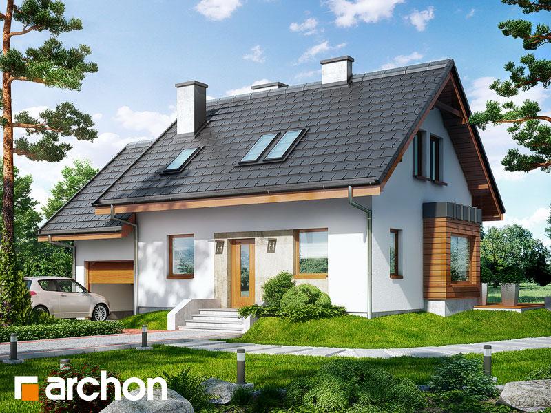 projekt Dom w perłówce 3 widok 1