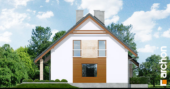 Elewacja boczna projekt dom w filodendronach  266
