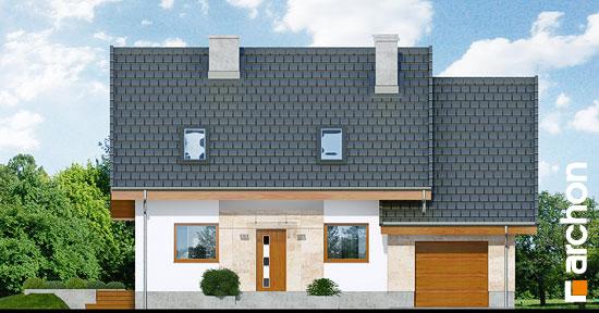 Elewacja frontowa projekt dom w filodendronach  264
