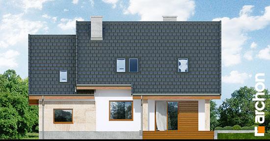 Elewacja ogrodowa projekt dom w filodendronach  267