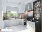 projekt Dom w filodendronach Wizualizacja kuchni 1 widok 1