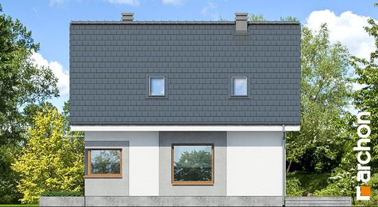 Elewacja boczna projekt dom w rododendronach 11 n  266