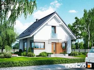 projekt Dom w rododendronach 11 (N) lustrzane odbicie 1