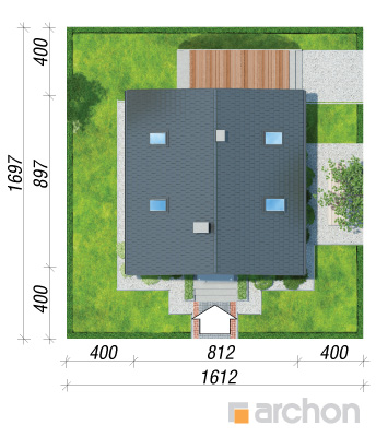 projekt Dom w rododendronach 11 (N) sytuacja