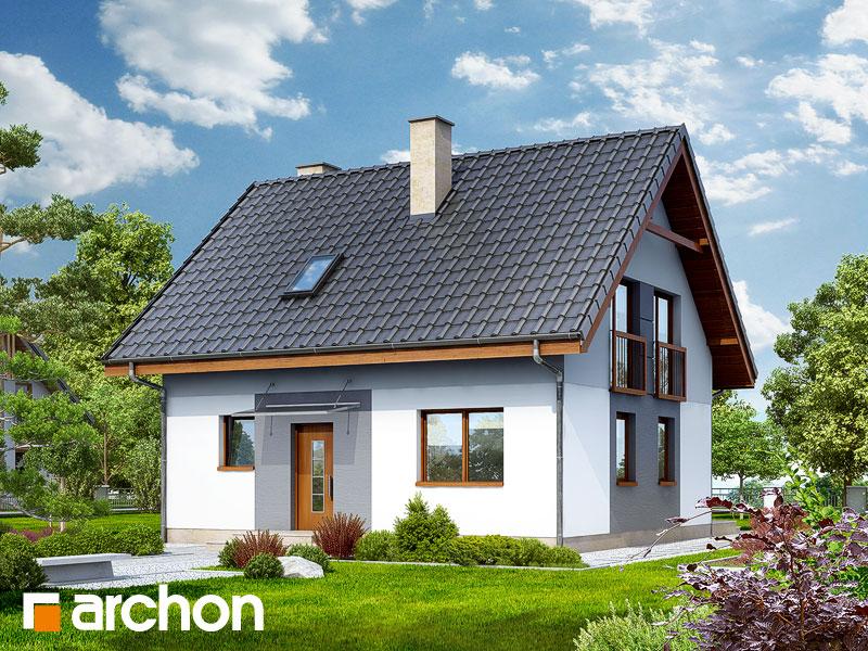 gotowy projekt Dom w zielistkach 2 widok 1