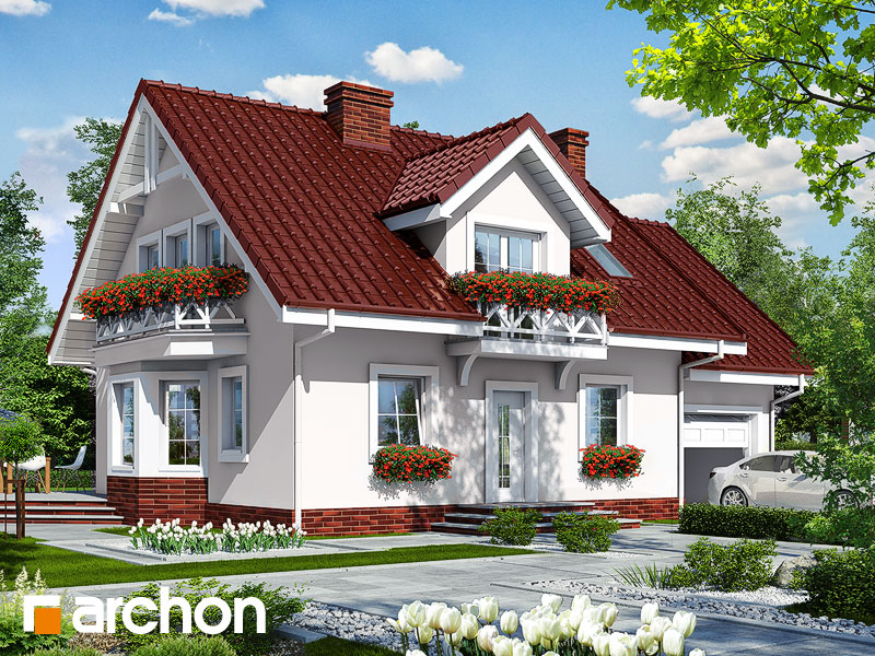 gotowy projekt Dom w rododendronach 6 widok 1