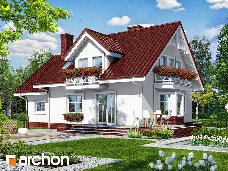 gotowy projekt Dom w rododendronach 6 widok 2