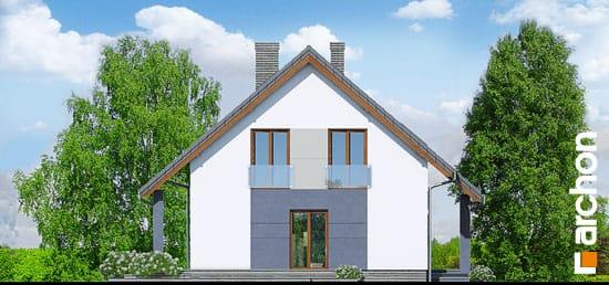 Elewacja boczna projekt dom w pieknotkach  266