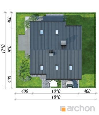 projekt Dom w pięknotkach sytuacja