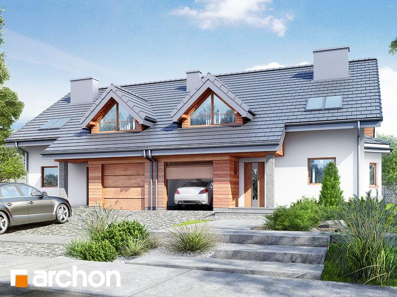 gotowy projekt Dom w klematisach 4 (R2) widok 1