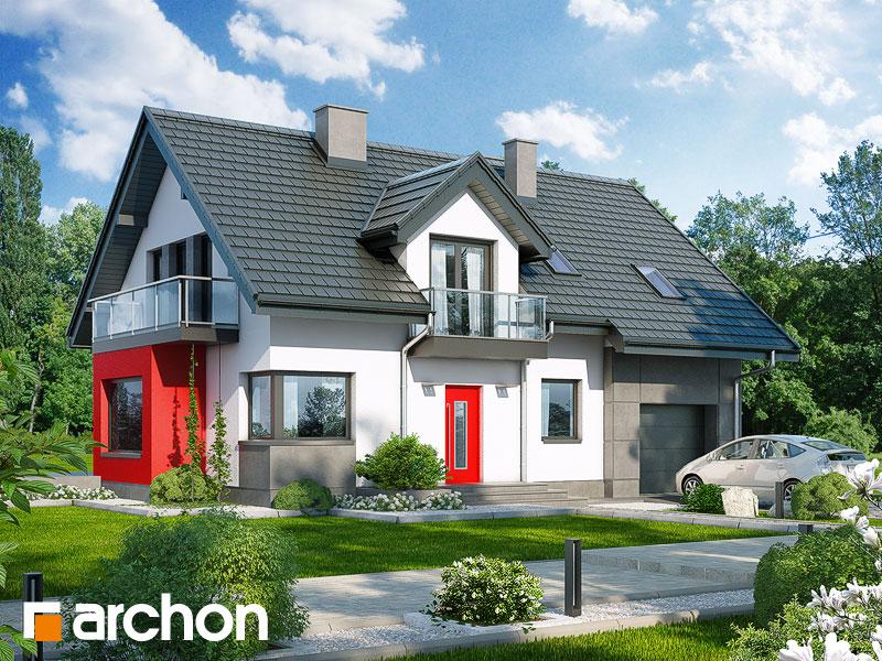gotowy projekt Dom w rododendronach 8 (N) widok 1
