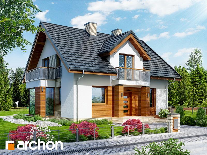 gotowy projekt Dom w rododendronach 6 (WN) widok 1