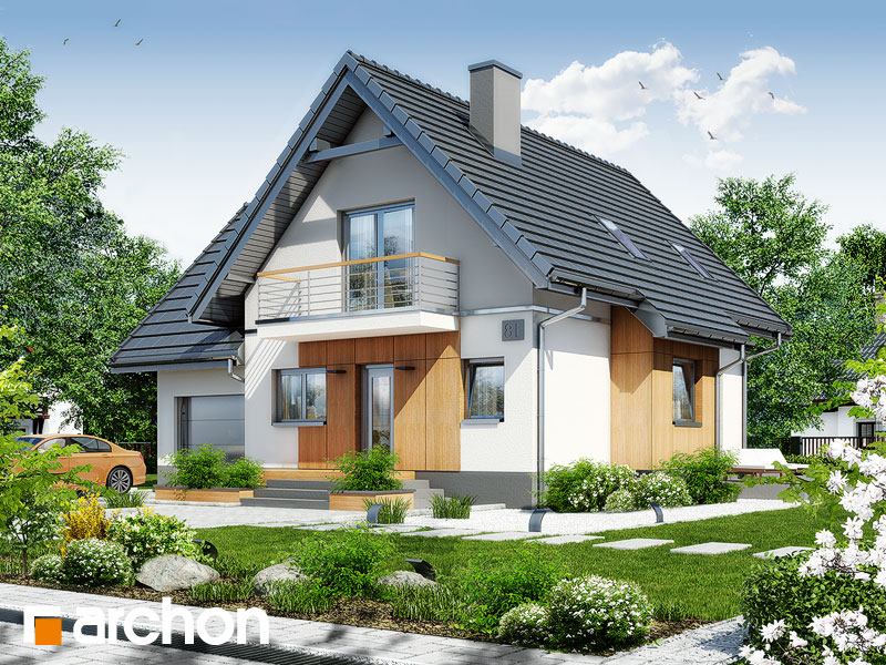 gotowy projekt Dom pod kasztanem 3 (N) widok 1