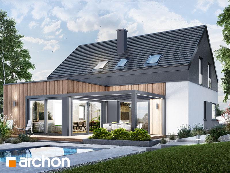 gotowy projekt Dom w ostnicach (G2E) widok 2