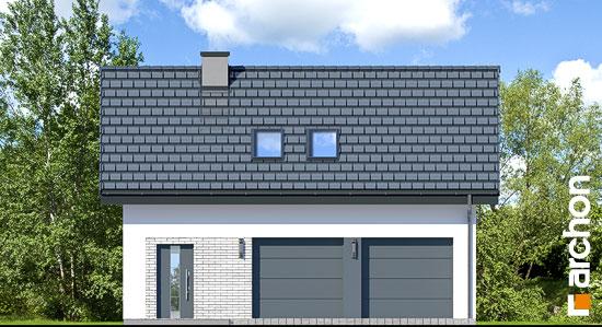 Elewacja frontowa projekt garaz 2 stanowiskowy g26  264