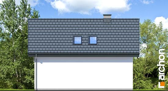 Elewacja ogrodowa projekt garaz 2 stanowiskowy g26  267
