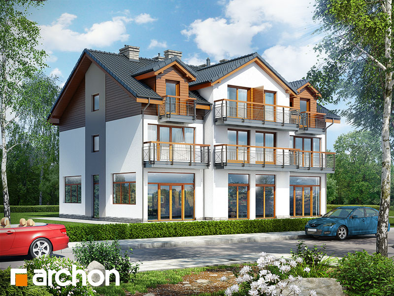gotowy projekt Dom nad bulwarem 9 widok 1