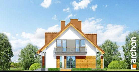 Elewacja boczna projekt dom w goldenach  265