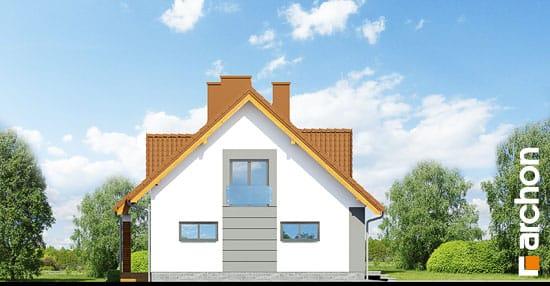 Elewacja boczna projekt dom w goldenach  266