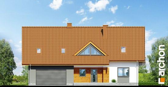 Elewacja frontowa projekt dom w goldenach  264