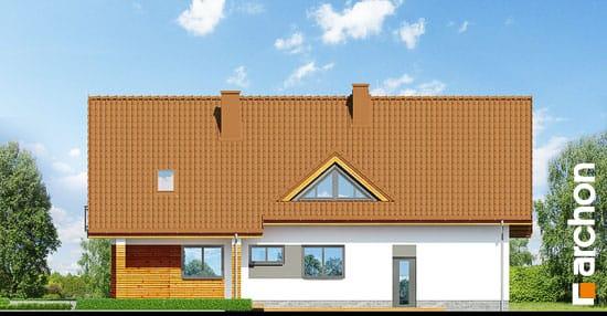 Elewacja ogrodowa projekt dom w goldenach  267
