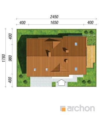 projekt Dom w goldenach sytuacja