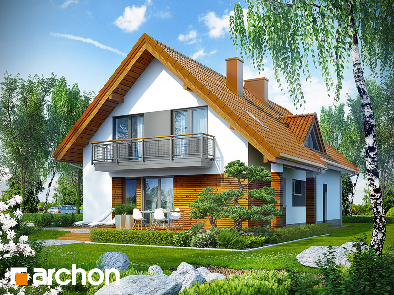 gotowy projekt Dom w goldenach widok 1