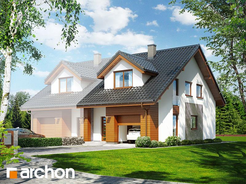 gotowy projekt Dom pod miłorzębem (GB) widok 1