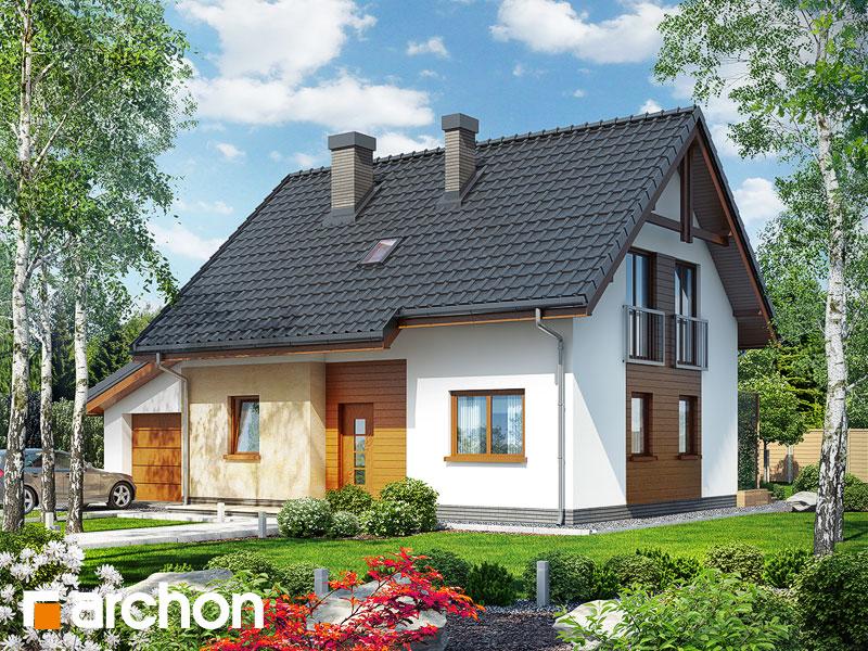 gotowy projekt Dom w zielistkach (G) widok 1