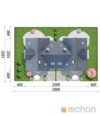 projekt Dom w antonówkach (R2) sytuacja
