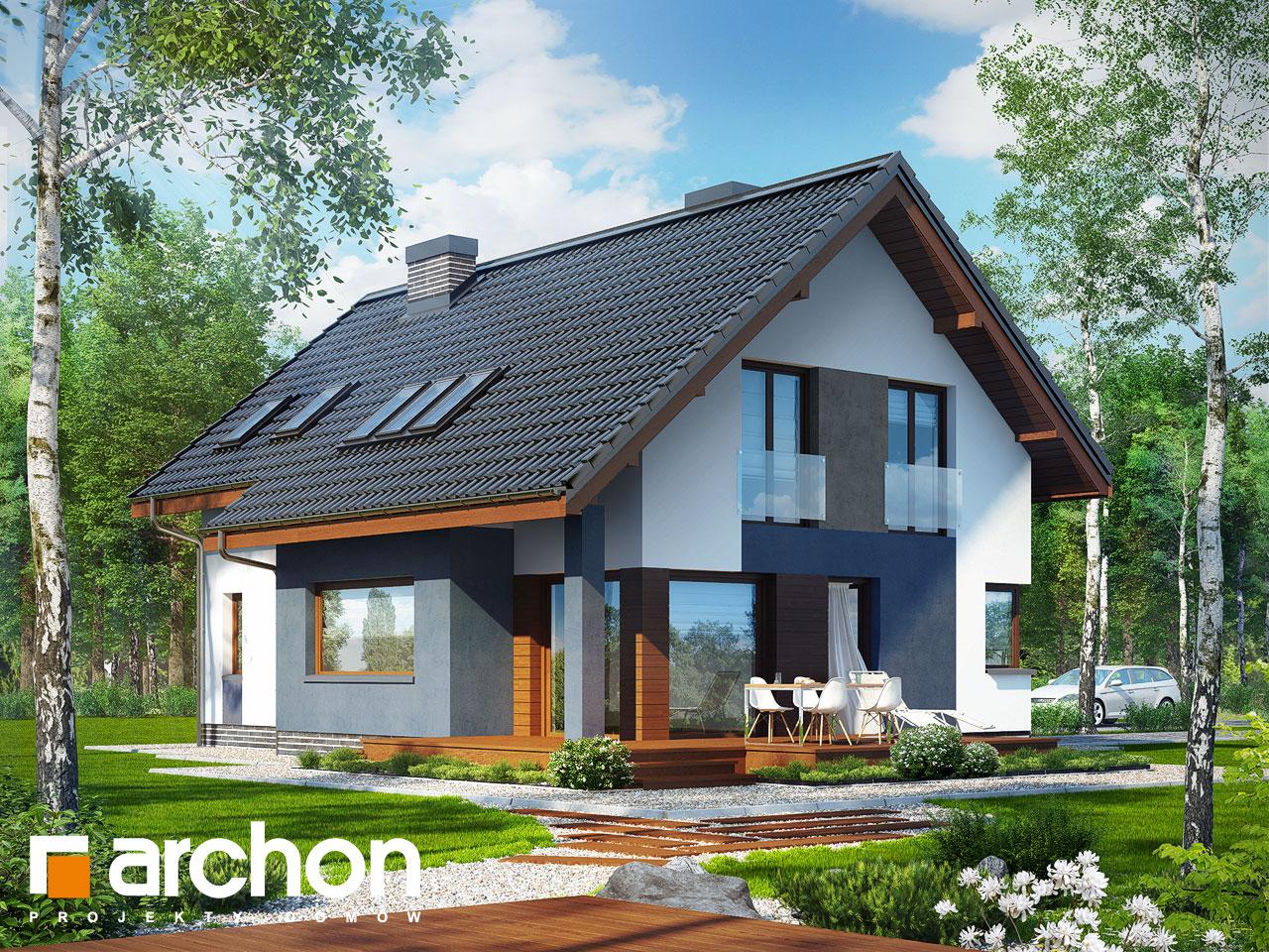 Projekt domu Dom w miodokwiatach - ARCHON+