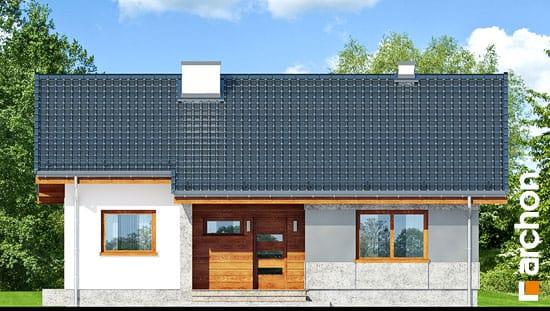 Elewacja frontowa projekt dom pod lipka  264
