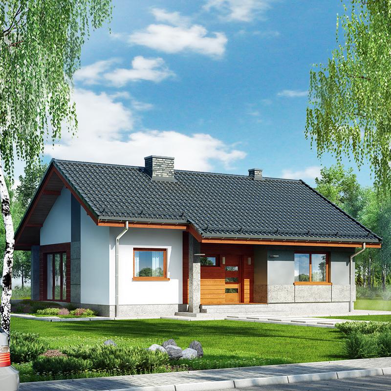 gotowy projekt Dom pod lipką widok 1