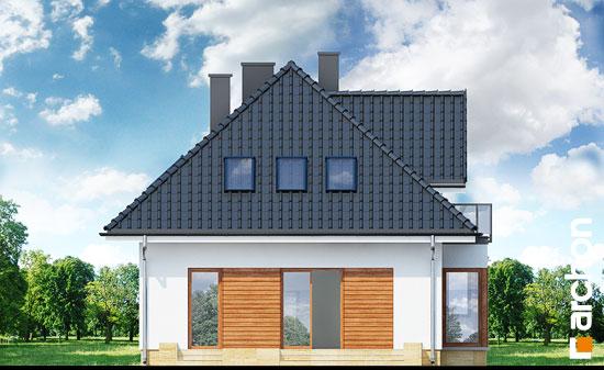 Elewacja boczna projekt dom w awokado n  266