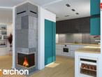 projekt Dom w awokado (N) Wizualizacja kuchni 2 widok 1