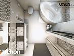 projekt Dom w awokado (N) Wizualizacja łazienki (wizualizacja 1 widok 5)