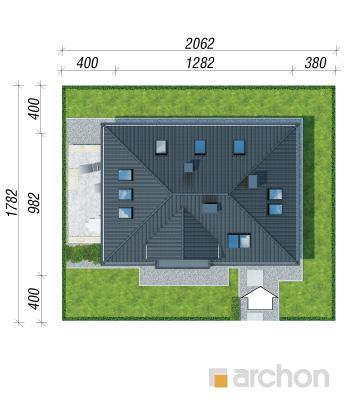 projekt Dom w awokado (N) sytuacja