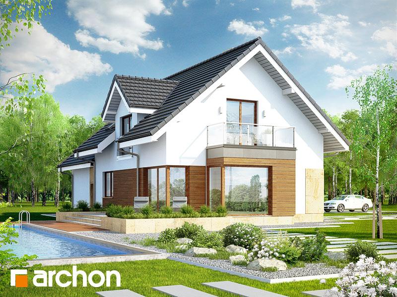 gotowy projekt Dom w rododendronach 6 (G2A) widok 1