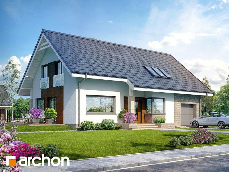 gotowy projekt Dom w bugenwillach widok 1