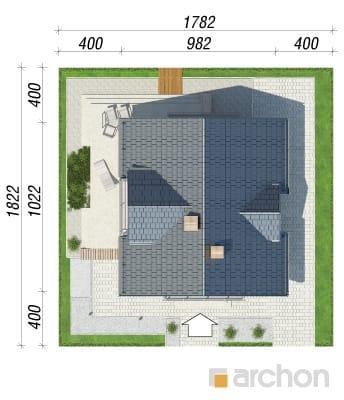 projekt Dom w rododendronach 5 (WN) sytuacja