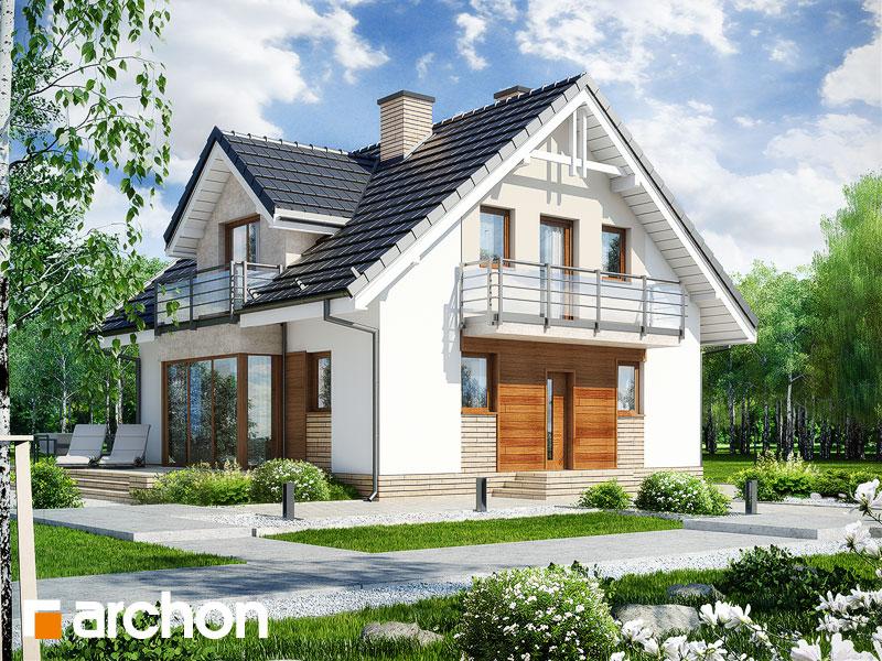 gotowy projekt Dom w rododendronach 5 (WN) widok 1